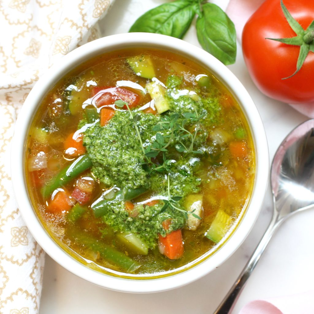 Vegetable Pistou Soup with Cannellini Beans